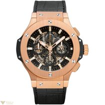 Hublot Big Bang 18K Rose Gold Rubber Chronograph Men`s Watch