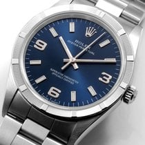 Rolex 34mm Oyster Perpetual Military Blue Arabic & Index...