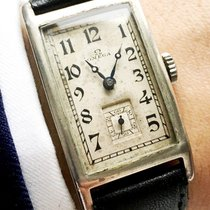 Omega Rare Omega Tank watch 925 solid silver case ww1 ww2...