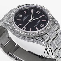 Rolex Oyster Perpetual 36mm Black W/ Pink Custom Added...