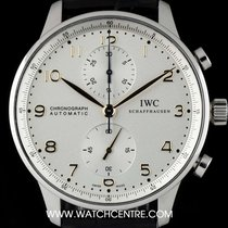 IWC Stainless Steel Silver Dial Portuguese Chronograph IW371445