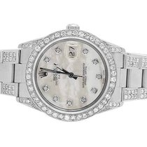 Rolex Date 1501 Oyster Pepetual 34MM Unisex White MOP Dial...