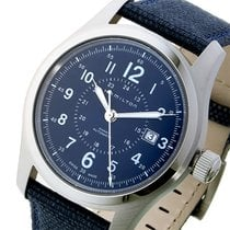 Hamilton カーキ フィールド KHAKI 自動巻き メンズ 腕時計 H70605943 ネイビー