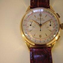 Doxa Vintage Chronograph in 18k Gold, originales Zifferblatt