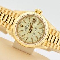 Rolex Datejust President 18k Yellow Gold Cream Jubilee Dial 69178