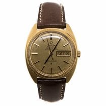 Omega Constellation C 18K Gold Day Date Watch