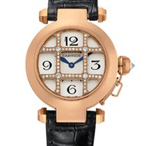 Cartier Pasha Grid Rose Gold and Diamonds 32 mm