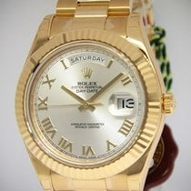 Rolex NEW Day-Date II President 18k Yellow Gold Mens Watch...