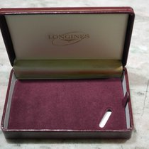 Longines vintage watch box burgundy leather for 30 ch newoldstock