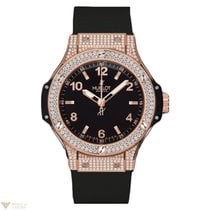 Hublot Big Bang 38mm 18K Rose Gold Black Rubber Ladies Watch