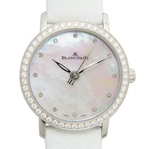 Blancpain Women Stainless Steel With Diamonds White Automatic...