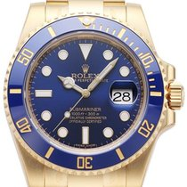 Rolex Submariner Date, Yellow Gold, Blue, 116618LB