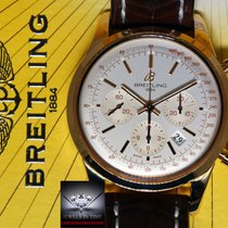 Rolex Breitling Transocean Chronograph 43mm Watch 18k Rose...