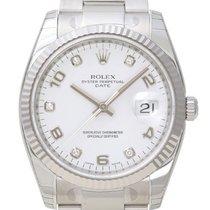 Rolex Oyster Perpetual Date 34mm Edelstahl/Weißgold 115234
