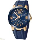 Ulysse Nardin Executive Dual Time Blue Rose Gold 18 K Men`s Watch