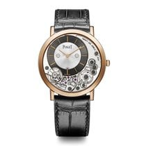 Piaget Altiplano Silver and Black Dial 18K Rose Gold Men's...