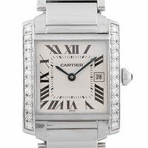 Cartier Tank Francaise Steel Midsize Diamond W51011Q3