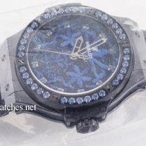 Hublot Big Bang 41mm Broderie Sugar Skull Fluo Cobalt Blue