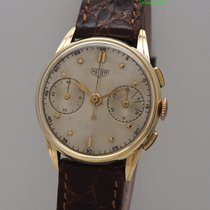 Heuer Chronograph Vintage Val.23 -Gold 14k/585
