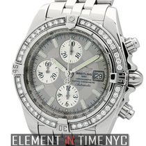 Breitling Chronomat Evolution Factory Diamond Bezel Grey Dial