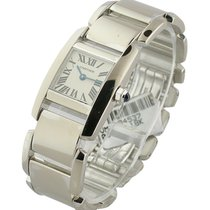 Cartier W650029H Tankissime - Small Size - White Gold on Bracelet