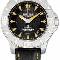 Chopard 168912-1 L.U.C Pro One 42mm in Steel - on Black Strap...