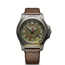 Victorinox Swiss Army I.N.O.X. TITANIUM Dial Green Leather...