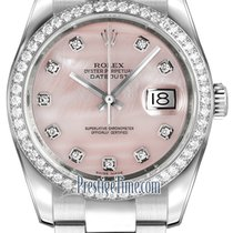 Rolex Datejust 36mm Stainless Steel 116244 Pink MOP Diamond...
