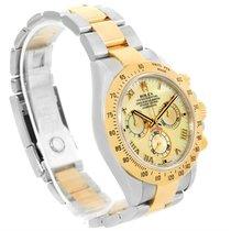 Rolex Cosmograph Daytona Steel 18k Yellow Gold Mop Dial Watch...