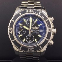 Breitling SuperOcean Chronograph 44m Stainless Steel Black...
