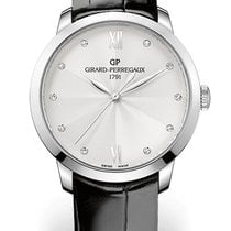 Girard Perregaux 1966 36MM White Gold Dial Silver Strap Black...