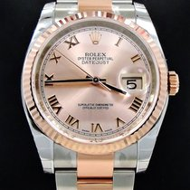 Rolex Datejust 116231 Oyster 18k Pink Gold & Ss Date Pink...