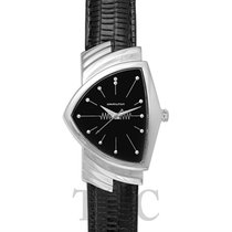 Hamilton Ventura Quartz Black Steel/Leather - H24411732