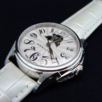 Hamilton JAZZMASTER LADY AUTO Total White Diamonds 34mm...