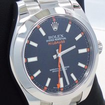 Rolex Milgauss 116400 Oyster Perpetual Black Dial Steel Watch...