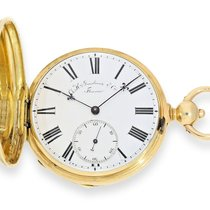 Pocket watch: extremely rare Swiss Chronometer with pivoted...
