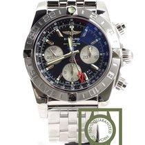 Breitling Chronomat 44 GMT Chronograph Black Dial full steel NEW