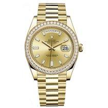 Ρολεξ (Rolex) DAY-DATE 40 18K Yellow Gold President Diamond Bezel