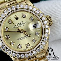 Rolex 26 Mm Women's Solid Yellow Gold Rolex Presidential...