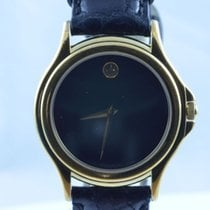 Movado Museum Damen Watch Uhr Rar Stahl Vergoldet Top Quartz 25mm