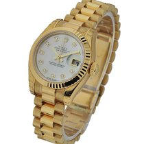 Rolex Unworn 179178 Ladys Yellow Gold DateJust with Fluted...