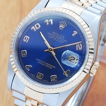 Rolex 18K Gold & S/S Arabic Dial Automatic Watch 16233