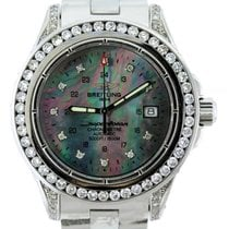 Breitling Superocean Men's Black Mother Of Pearl Dial...