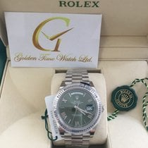 Rolex Day-Date 40mm Green Roman