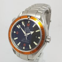 Omega Seamaster Planet Ocean Mens Orange 42mm Watch