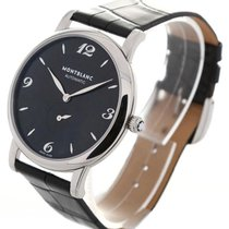 Montblanc Star Classique Black Leather Automatic Men's...