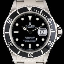 Rolex Stainless Steel Black Dial Submariner Date Gents 16610
