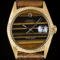 Rolex 18k Y/G Tiger's Eye Stone Dial Rare Datejust Gents 1601