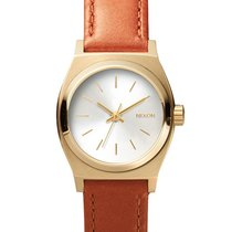 Nixon A509-1976 Small Time Teller Leather Light Gold Saddle...