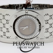 Gucci Woman Watch Twirl Collection Diamonds Bronze Ref. 112416